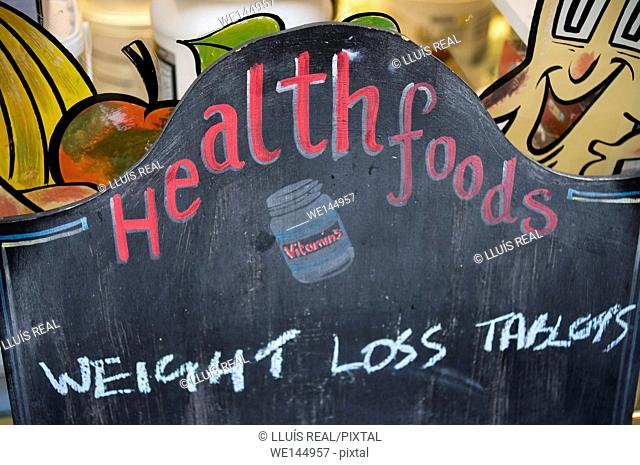 Weight loss tablets advertising
