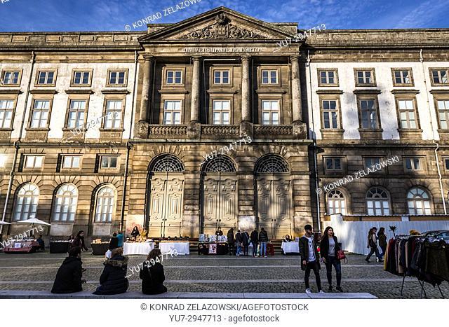 University of Porto headquarters in Vitoria civil parish of Porto city on Iberian Peninsula, second largest city in Portugal