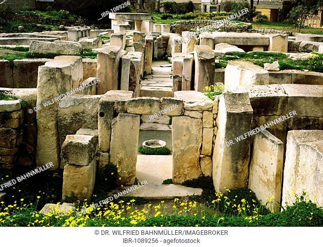 Tarxien Temple near Valette, Malta, Europe