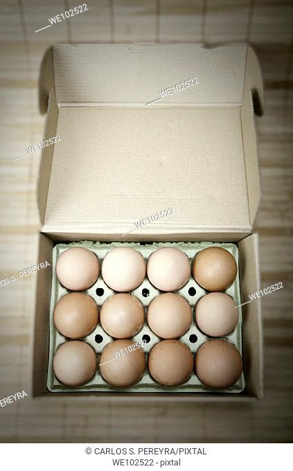 organic eggs from a farm in the Mediterranean