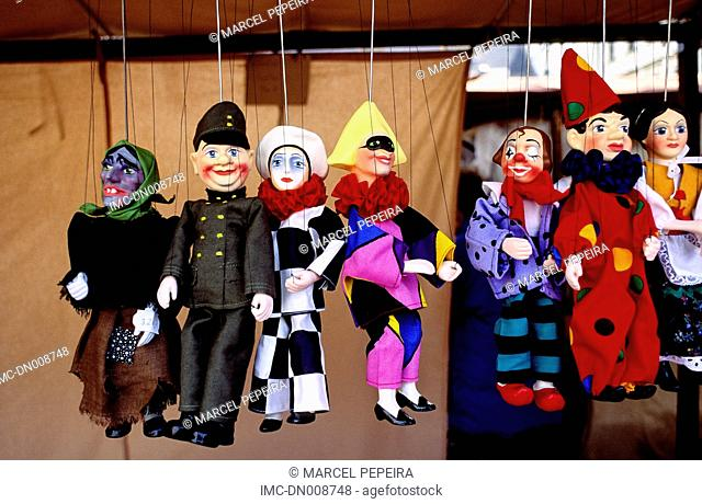 Czech republic, Prague, old city, puppets