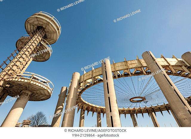 The New York State Pavilion from the 1964-65 World's Fair in Flushing Meadows Park in Queens in New York. The landmarked ''ruin'' designed by the noted...