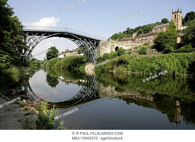 Iron Bridge over The River Severn. Shropshire, UK