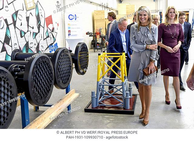 Queen Maxima of The Netherlands at Corrosion in Moerkapelle, on October 03, 2018, to attend the presentation of the Annual Report State of the MKB 2018 from the...