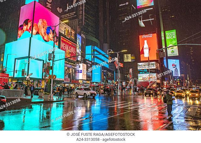 USA, New York City, Manhattan, Times Square