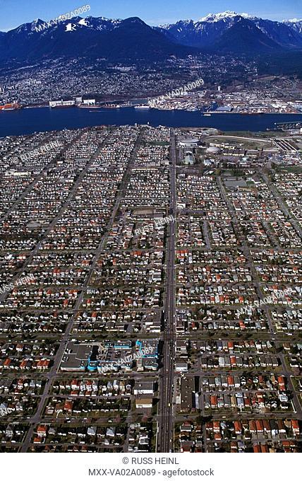 Aerial of Vancouver, British Columbia, Canada