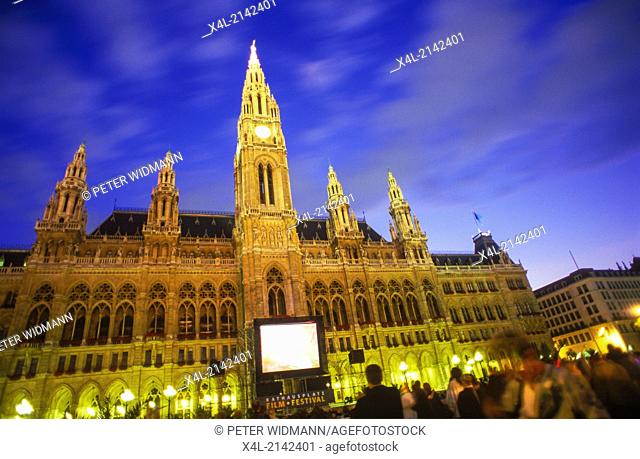town hall, film festival, Austria, Vienna