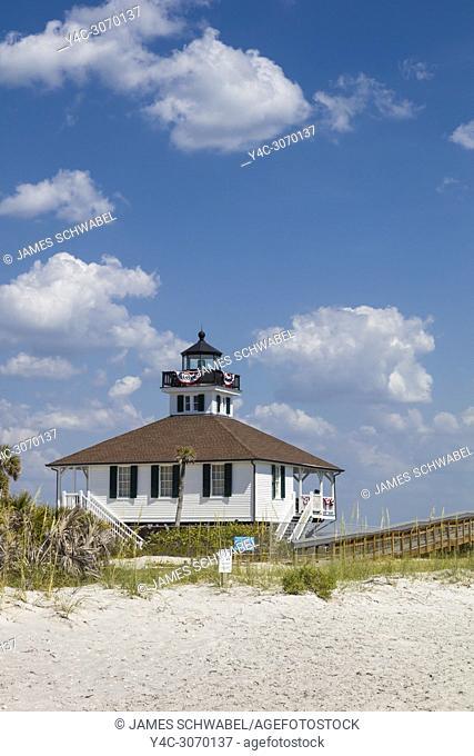 Port Boca Grande Lighthouse built in 1890 in Gasparilla Island State Park on Gasparilla Island one of the Gulf Coast barrier islands