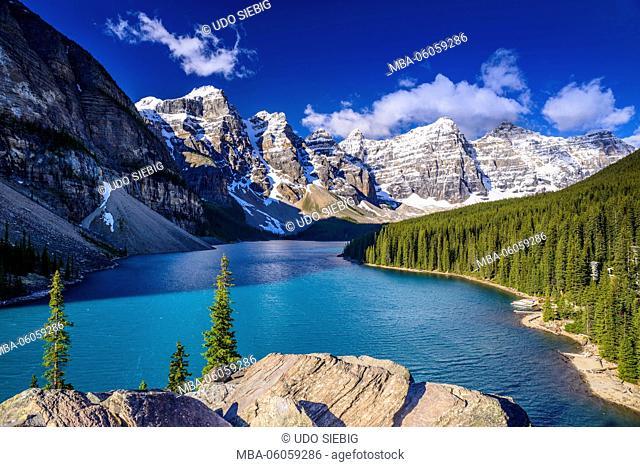 Canada, Alberta, Banff National Park, Lake Louise, Moraine Lake