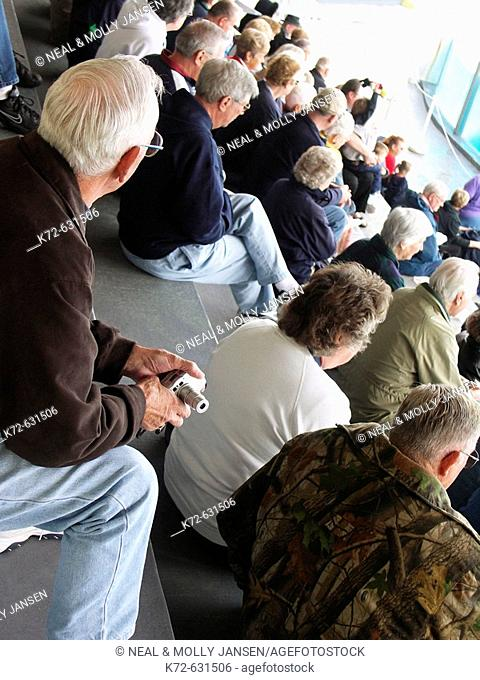 Older crowd watching show