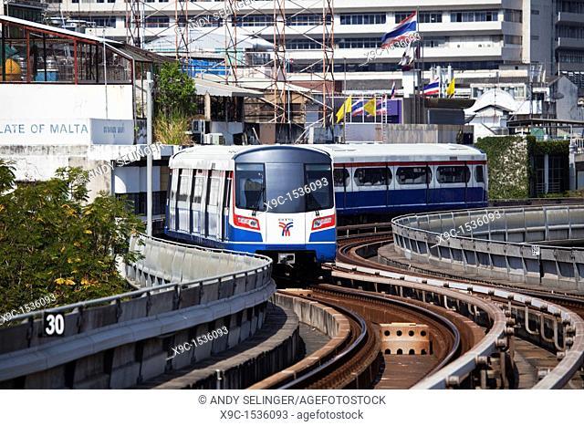 The Skytrain in Bangkok, Thailand