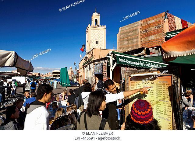 Restaurant in Jemaa El Fna, Bab Doukkala, Marrakech, Morocco
