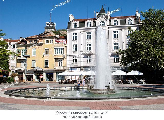 Stefan Stambolov square, Plovdiv, Bulgaria