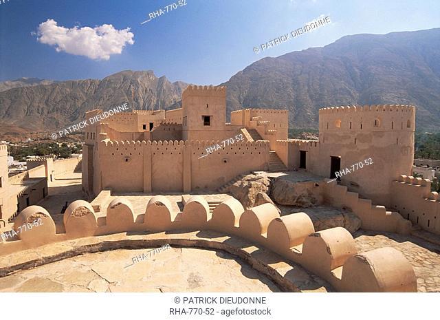 Nakhl fort, Batinah region, western Hajar, Oman, Middle East