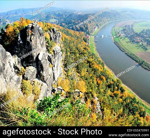 elbe river, saxon switzerland, elbe sandstone mountains