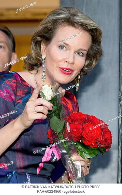 Queen Mathilde of Belgium attends the concert 'Prelude to the National day' at the Palace of Fine Arts in Brussels, Belgium, 20 July 2015