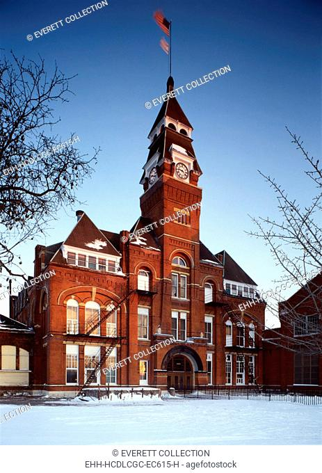 Pullman Palace Car Works Administration Building, built 1880. Pullman, Illinois, photo ca. 1980s