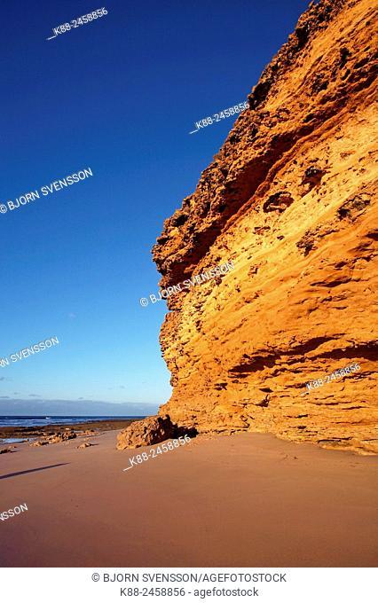 Rock formations at Bells Beach. Great Ocean Road, Victoria, Australia