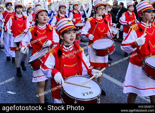 Chinese New Year parade in Lisbon (Portugal)