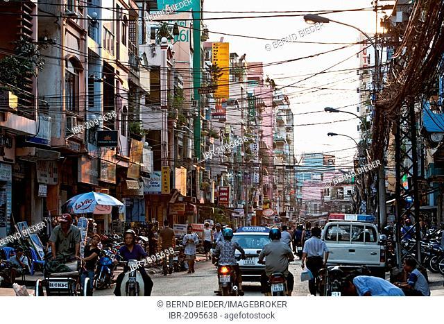 Street scene, Ho Chi Minh City, formerly named Saigon, Vietnam, Southeast Asia