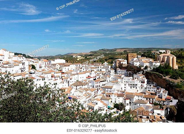 White village Setenil de las Bodegas, Andalusia Spain