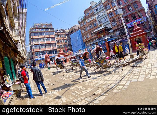 Street Scene, Thamel District, Kathmandu, Nepal, Asia
