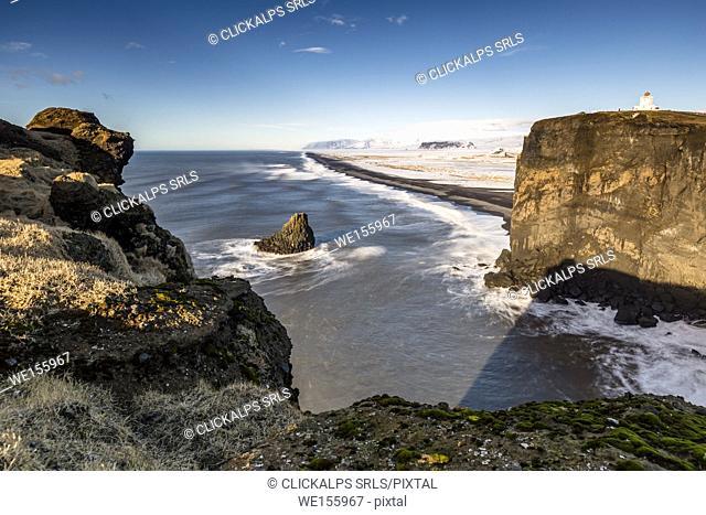 The Dyrhòlaey's coastline, Vik, southern Iceland, Europe