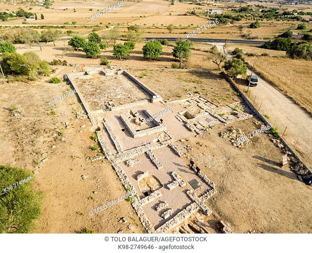 basilica paleocristiana Son Peretó , siglos V-VI d. C, Manacor, Majorca, Balearic Islands, Spain