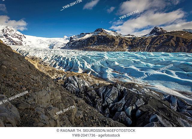 Glacial landscapes, Svinafellsjokull, Iceland