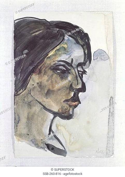 Headshot of a Woman, Emil Nolde, 1867-1956/German