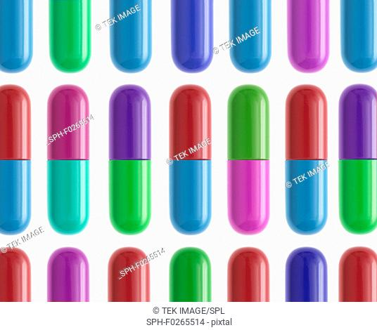 An assortment of capsules