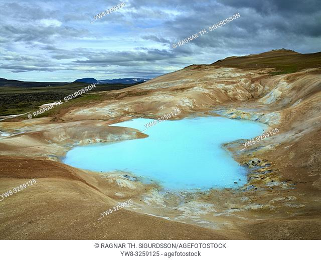 Leirhnukur hot spring area, geothermal area, Iceland