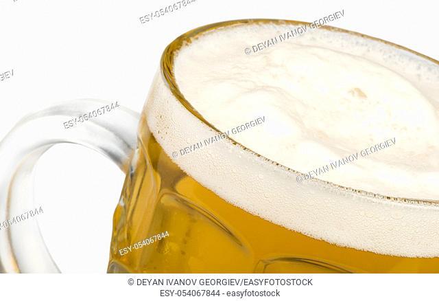 Mug filled with beer studio shot