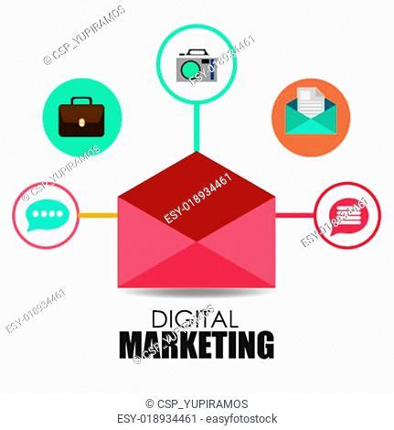 Marketing design, vector illustration