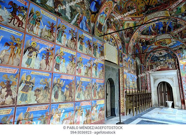 Series of frescoes in the Church of the Virgin in Rila Monastery, Rila mountains, Bulgaria