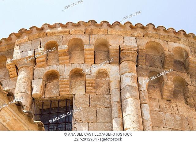 San Miguel church in Caltojar village in Soria province Castile Leon Spain