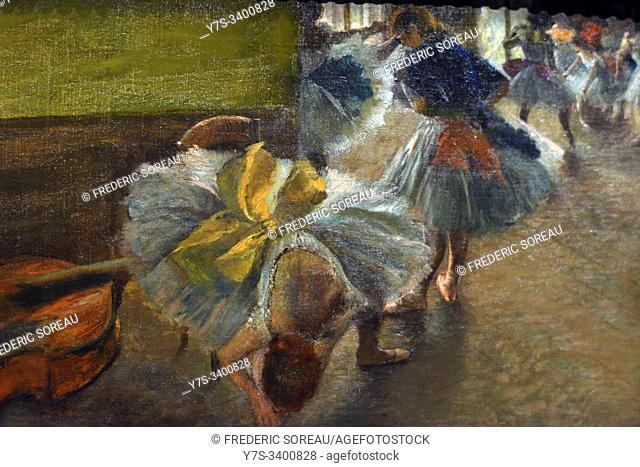 Danseuses au foyer dit La Contrebasse,1882-1885, oil on canvas,Edgar Degas,The Metropolitan Museum of Art,New York,USA
