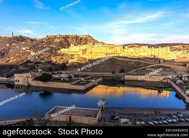 Amber Fort and the lake view, Jaipur, Rajasthan, India