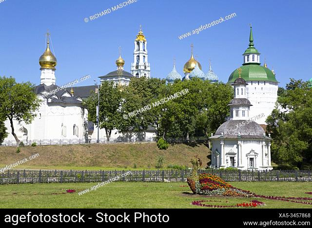 Overview, The Holy Trinity St Sergius Lavra, UNESCO Site, Sergiev Posad, Golden Ring, Moscow Oblast, Russia