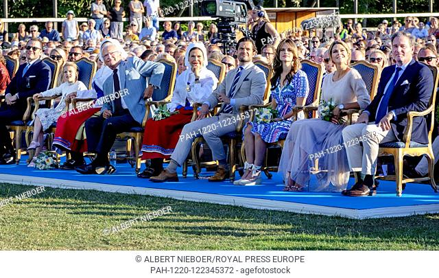 King Carl Gustaf and Queen Silvia, .Crown Princess Victoria and Prince Daniel, Princess Estelle,.Princess Madeleine and Christopher O?Neill