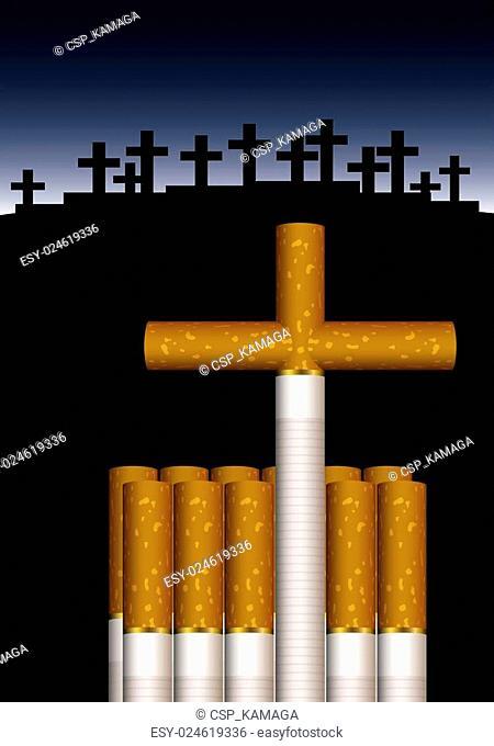 Grave of cigarettes