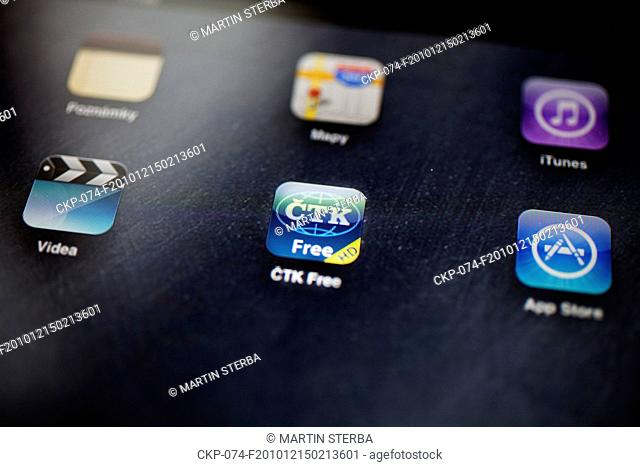CTK Free application icon pictured in Prague, Czech Republic on Dec 15, 2010 CTK Free is an application for iPad, iPhone and iPod Touch offering CTK news...