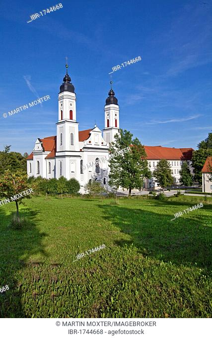 Irsee Abbey, a Benedictine monastery in Irsee, Diocese of Augsburg, Swabia, Ostallgaeu district, Bavaria, Germany, Europe