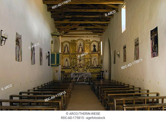 Interior, San Pedro de Nolasco church, Molinos, Calchaqui valley, Argentina