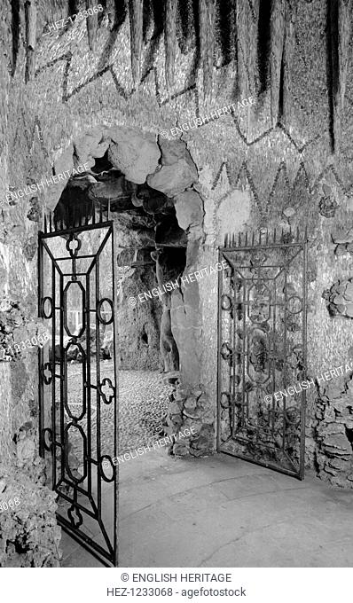 Grotto at Ascot Place, Winkfield, Berkshire, 1945. The interior of this romantic grotto, built circa 1750 by Robert Turnbull