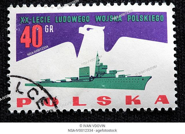 20 years of Army, postage stamp, Poland, 1960-s