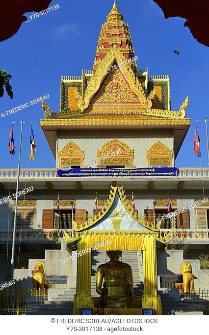 Wat Ounalom, Phnom Penh, Cambodia, South East Asia, Asia