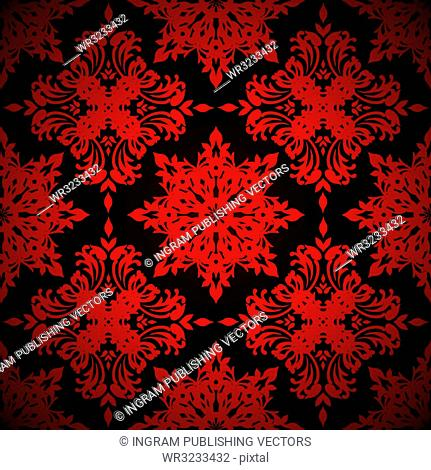 Bright red seamless abstract background with repeat design
