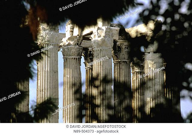 The Temple of Olympian Zeus. Athens. Greece