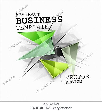 Abstract symbols as busines template. Sharp triangles on the abstract background. Vector design elements. This images without sample texts in my portfolio